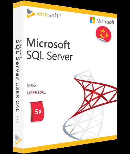 MICROSOFT SQL SERVER 2016 - 5 PACK USER CAL