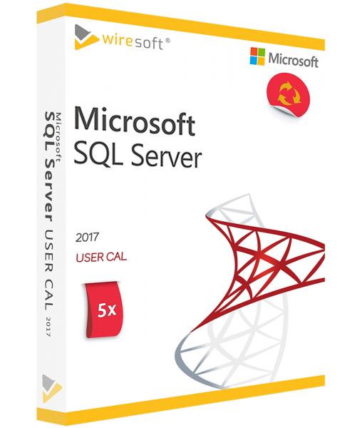 MICROSOFT SQL SERVER 2017 - 5 PACK USER CAL